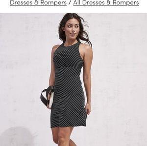 Athleta Santorini high neck mix stripe dress